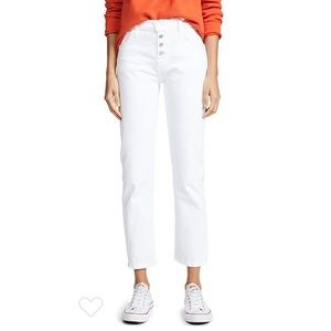 Current/Elliott Exposed Button Fly Straight Jeans
